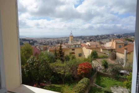 Cannet historique, 2 pièces 59 m², vue mer panoramique, balcon
